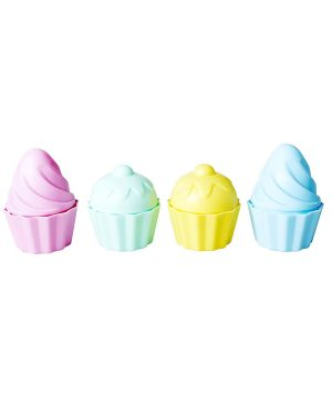 Rice Beach Toys in Muffin Shape - Assorted Pastel Colors One Size